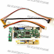HDMI VGA DVI AUDIO LCD CONTROLLER BOARD DIY MONITOR KIT FOR LTN156AT01 1366X768