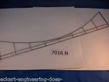 "EE 7016 NEW Condition Marklin HO Catenary Cross Span 15"" f/4 Tracks oberleitung"