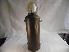 Rare Lamp Brass And Glass Wilcox Crittenden & Co Marine Boat Portable Light