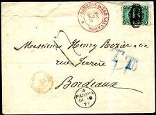Salvador 1874 7i bellissima lettera dopo BORDEAUX dializzatori Scheller (z7124