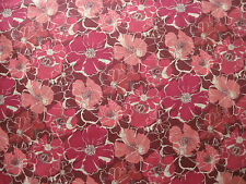 "LIBERTY OF LONDON TANA LAWN FABRIC DESIGN ""Poppy Rose D"" 2.4 METRES (240 CM)"