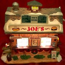 LEMAX Christmas Village JOE'S BURGER & HOT DOG STAND Lighted HARVEST CROSSING