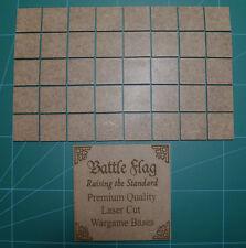 25mm x 25mm LASER CUT MDF 2mm Wooden Bases for Wargames