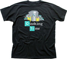 Adventure Cooking Time Finn Jake Breaking Bad Walter black cotton t-shirt 9847