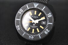 VINTAGE DIVER WATCH GLASSTAR AUTOMATIC HERRENUHR plastic CASE AQUASTAR