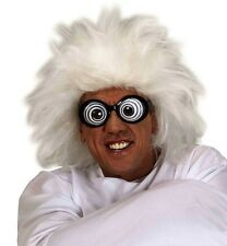 Einstein Wig Lunatic Mad Doctor Crazy Man White Fancy Dress