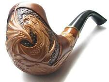 "HAND CARVED Handmade Fashion Tobacco SMOKING PIPE PEAR "" Dragon "" Made by Artist"