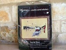 "Paragon Needlecraft ""Dock Side"" Creative Crewel Stitchery Kit NIP"