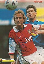 ARSENAL: RAY PARLOUR SIGNED A4 (12x8) MAGAZINE PICTURE+COA