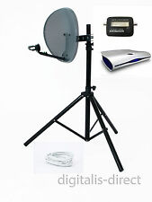 Sky Satellite Receiver Caravan,Box,Tripod,Dish,Finder