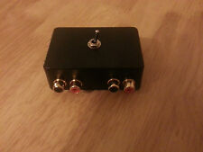 ASPHO3 Audio switcher gold phono i/p x2 stereo to 5 pin din 180° plug(amp input)