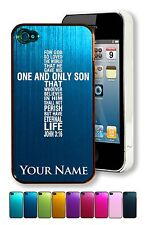Personalized Aluminum Case/Cover for iPhone 4/4S - JOHN 3:16 BIBLE VERSE