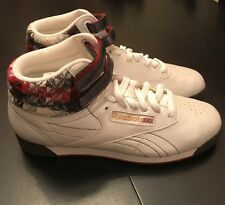 New Women's Reebok freestyle High Top , Pearl White, Size 7 Rare