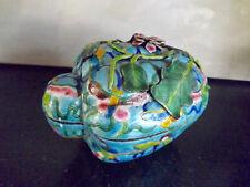 """Superb LARGE Antique Chinese enamel box 6"""" gourd shape"""