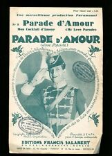 PARTITION Maurice CHEVALIER PARADE D'AMOUR BATTAILLE SCHERTZINGER