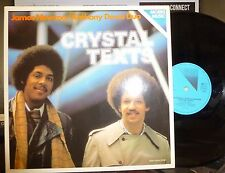 """JAMES NEWTON / ANTHONY DAVID DUO """"Crystal Texts"""" LP NM/NM, GERMANY, 1079"""