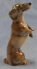 Dackel Porzellanfigur hund hundefigur  Teckel porzellanhund Hutschenreuther 1945