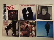 "LOT of 6 MICHAEL JACKSON 7"" 45 Record SLEEVES Only NM 80s Bad Smooth Victory 5"