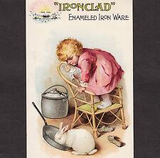 Nelly Bly Brooklyn NY Company Iron Clad Enameled Kitchen Ware Advertising Card