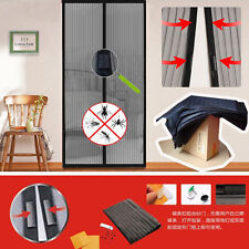 Screen Door Hands-Free Black with magnets For Dog Cats STOP Bug Mosquito Fly OY2