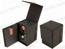 ULTRA PRO PRO-TOWER DELUXE DECK BOX Black MTG 3-Compartment Large Dual