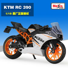 New Maisto 1:18 KTM RC 390 Motorcycle Model Collection Birthday Gift