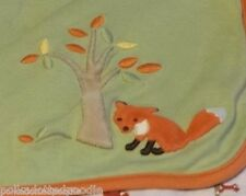 Gymboree Green MY LITTLE TREEHOUSE Orange Fox AUTUMN FOREST Cotton Baby Blanket