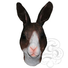 Latex Full Head Animal Rabbit Hare (White/Brown) High Quality Fancy Props Masks