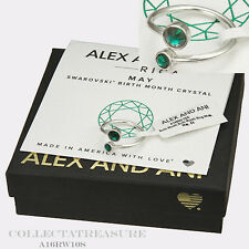 Authentic Alex and Ani May Shiny Silver Birth Month Ring