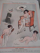 Page d'Album Mon Peit Modèle Nin Pompon Girl Nude Print Art Déco 1912