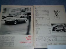 1964 Lotus Elan 1600 Vintage Road Test Info Article 6-Pages