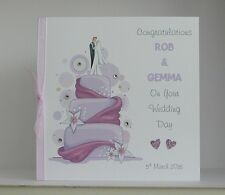 Personalised Wedding Day Congratulations Card  Large 8x8 inch Size