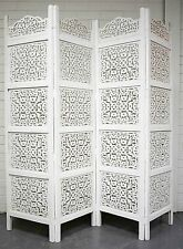 Vintage Indian Screen Shabby Chic Hand Carved Timber Room Divider