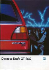 VW Volkswagen Golf GTi 16v Mk 2 1985-86 Original German Sales Brochure