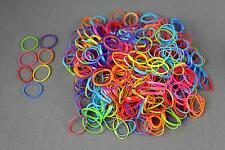 Multi Color pack 500 small tiny mini hair ties elastics rubber bands girl braid