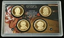 2008 S Presidential Dollar Proof Set 4 Coins US Mint (No Box or COA)