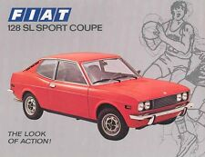1973 Fiat 128SL Sport Coupe Sales Brochure mw3427-PAIAW3