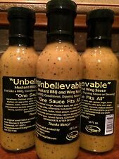 """Mustard barbecue sauce, """"One Sauce Fits All"""", 12 ounces"""