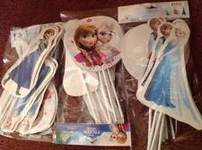 DISNEY'S FROZEN ELSA And ANNA 12 PIECE PARTY FAVOR TOPPERS, HARD TO FIND!