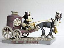 "Disney MICKEY MOUSE & Tanglefoot ""The Fire Fighters"" ENGINE Statue Figurine Vtg"