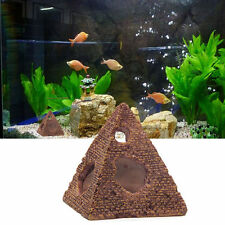 Egyptian Pyramid Shrimp Rockery Hiding Cave Aquarium Fish Tank Decor Ornament