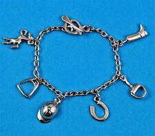Horse theme  silver colour charm bracelet