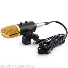 USB Cardioid Condenser Studio Sound Recording Microphone Mic w/ Stand Brocasting