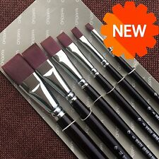 Red Sable Hair Artist Art Paint Brush for Watercolor Oil Acrylic Brush 6pcs/set