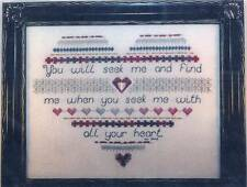 Cross Stitch Destiny SEEKING HEART Cross Stitch/SS Chart w/ Charm ~ Expression