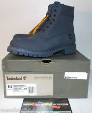 "Timberland 6"" Premium Navy Blue Nubuck Boot Men's Size 9.5 TB0A176X Brand New"