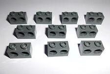 Lego (32000) 10 Lochsteine 1x2x1 mit 2 Löcher, in dunkelgrau aus 7680 8087 7753