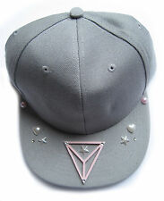 TRIANGLE STAR  FLAT CAP GREY HAT  BEANIE BLING INDIE HIPHOP