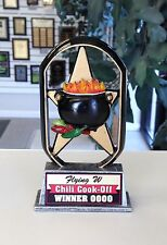 CHILI COOK-OFF SCULPTURE TROPHY AWARD COOK OFF POT COOKING