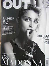 MADONNA  April 2011 OUT  Magazine  BRITNEY SPEARS  JAKE SHEARS  TIPPI HEDREN
